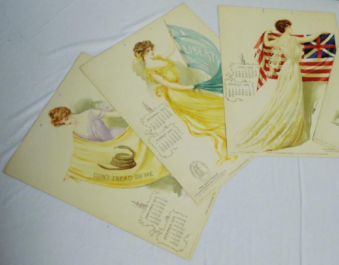 Lot of 3 Life Insurance Calendars 2 1903/ 1 1904 - 4