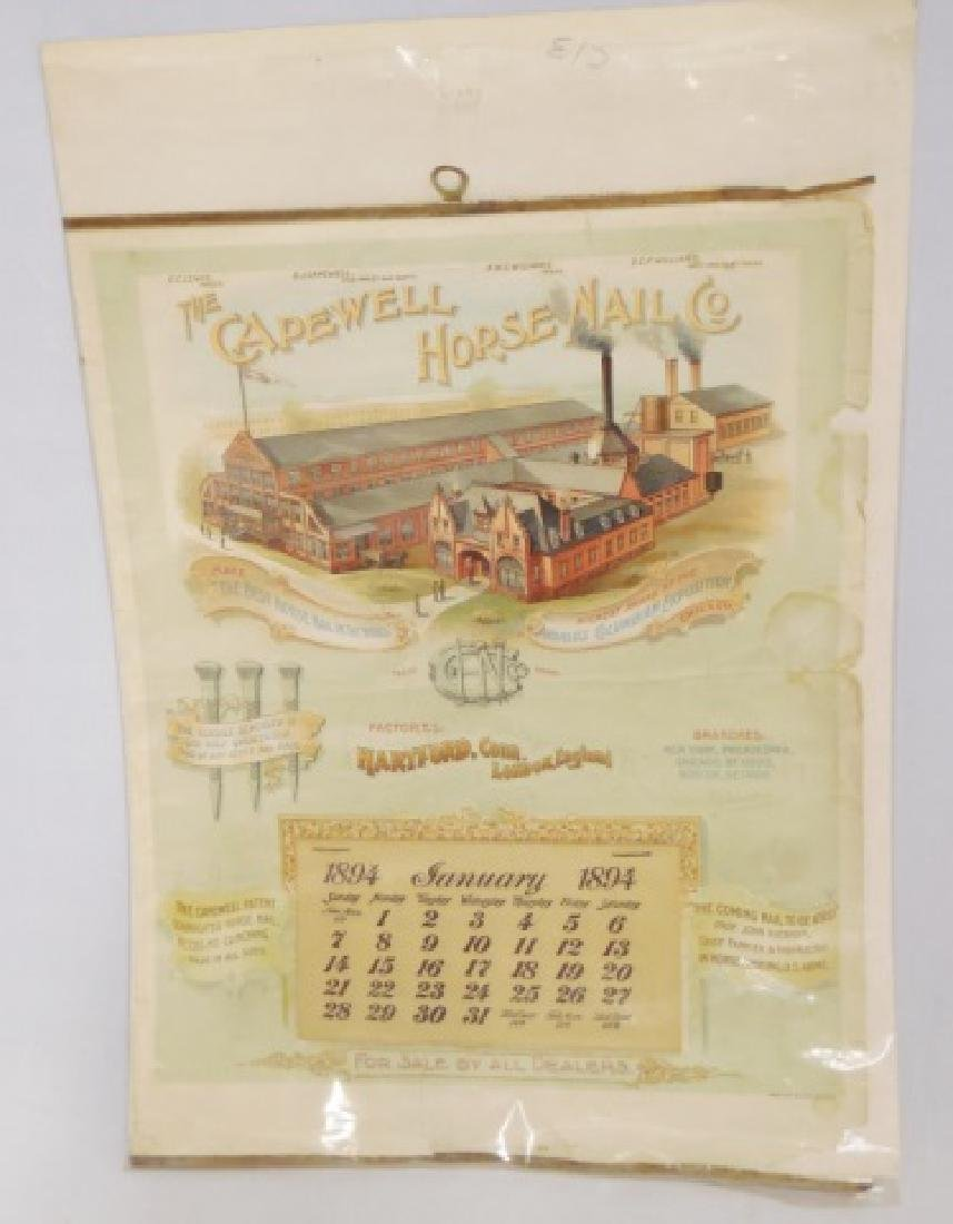 "Ad. Calendar ""The Capewell Horse Nail Co."" 1894"