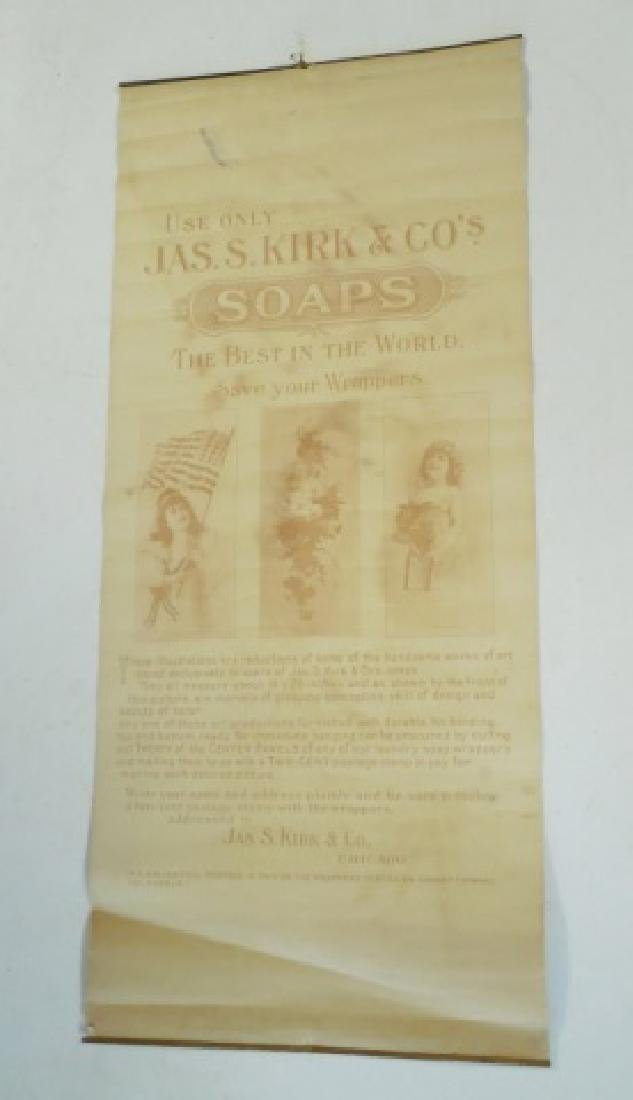 """""""Jas S Kirk and Co's Soaps"""" Poster Advertisement - 2"""