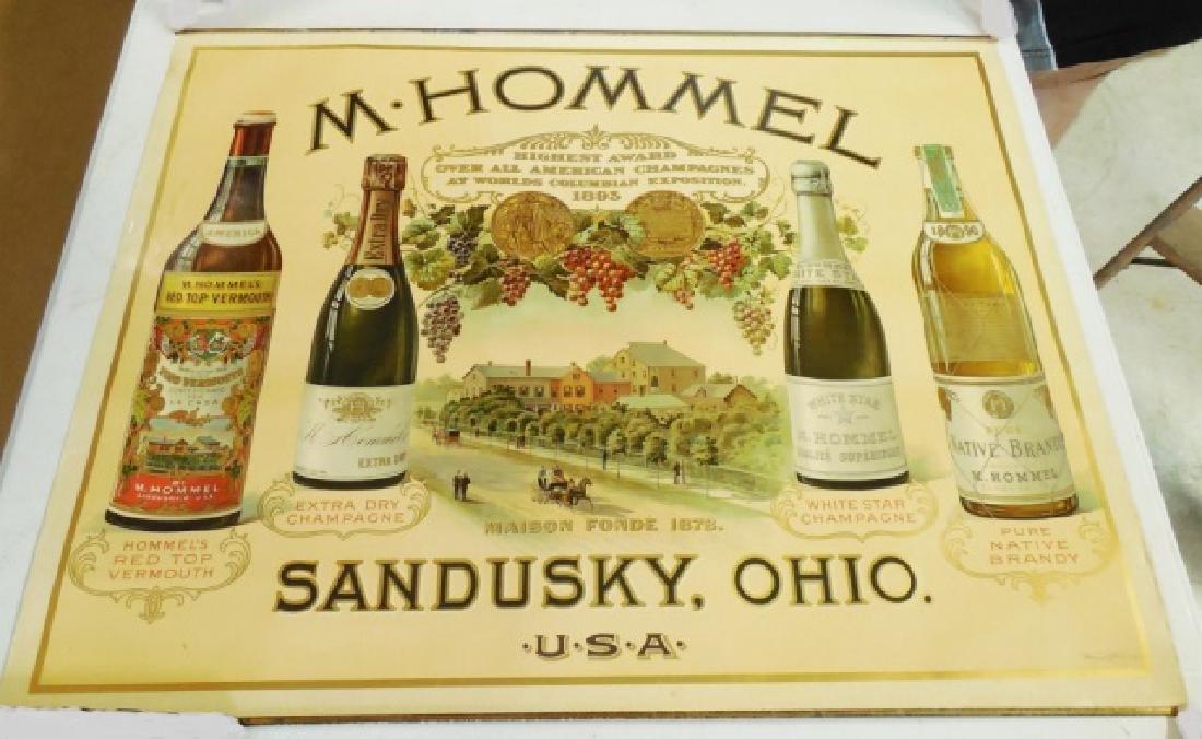 """M.H. Hommel Champagne"" Advertising Poster"