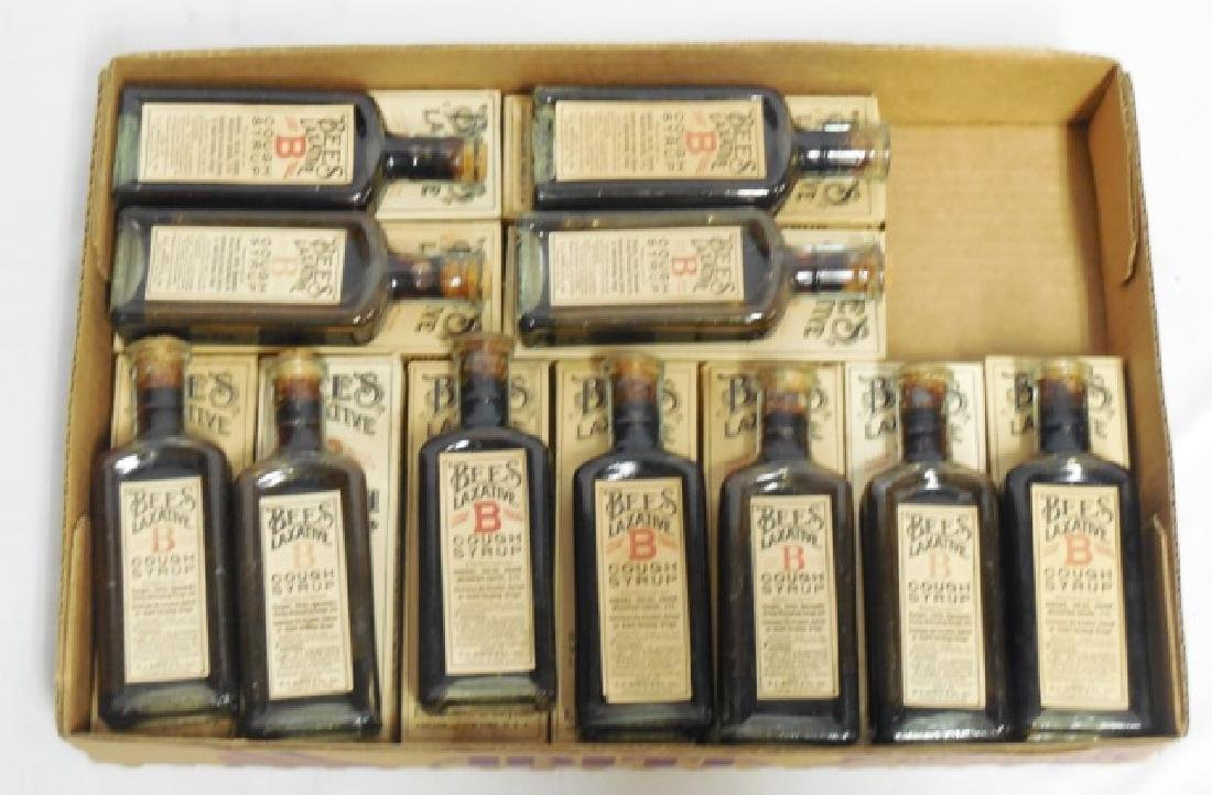 "Lot of 11 ""Bees Laxative Cough Syrup"" Bottles"