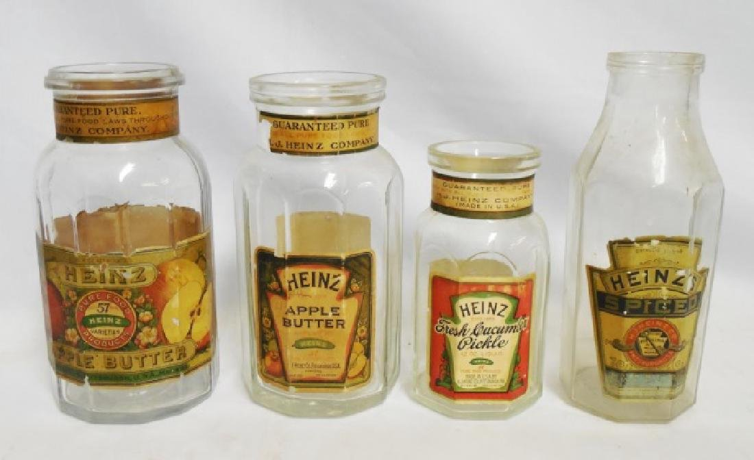 "Lot of 4 ""Heinz"" Bottles"