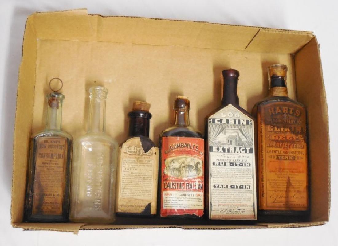 Lot of 6 Medicinal Bottles