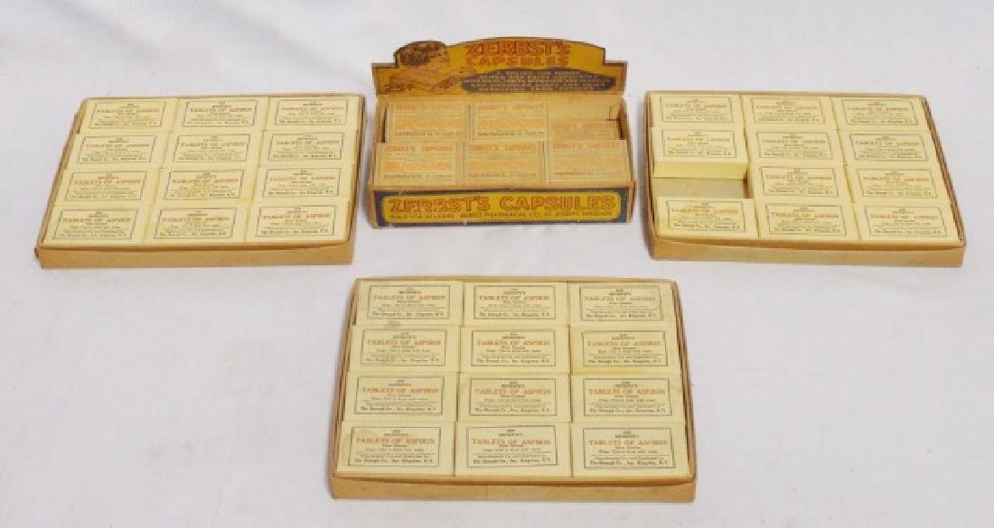 """""""Zerbst's Capsules"""" and """"Aspirin"""" in Display Boxes"""