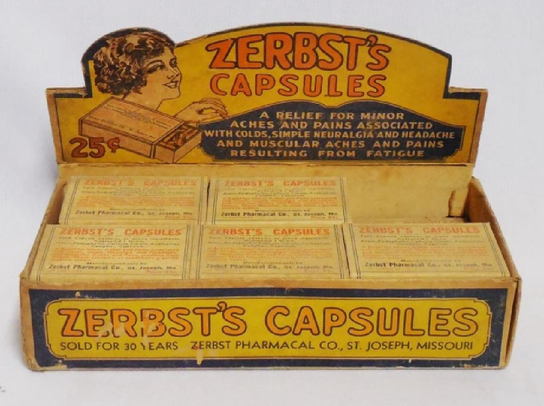 """Zerbst's Capsules"" and ""Aspirin"" in Display Boxes - 2"