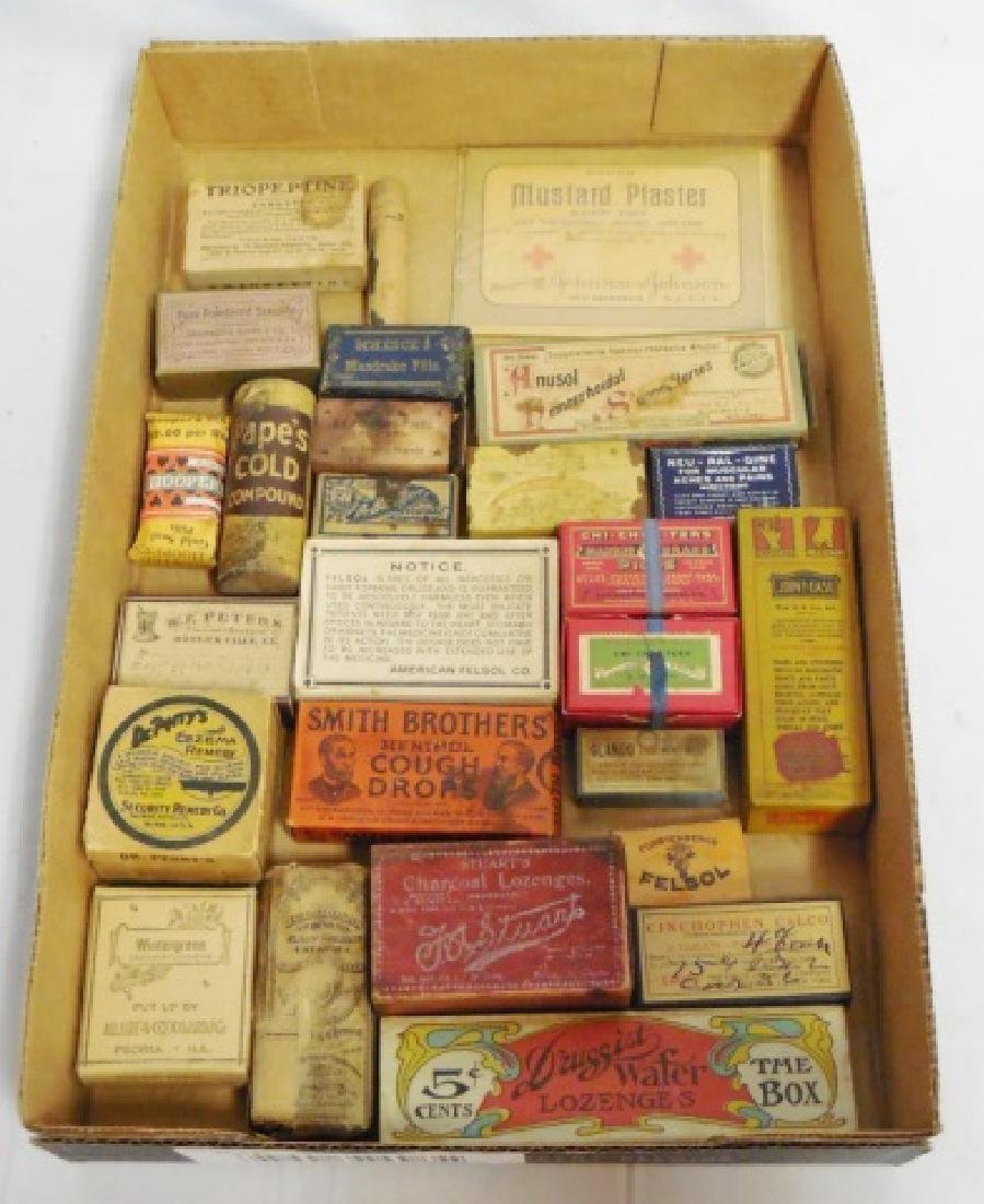 Lot of 26 Assorted Medicinal Cardboard Boxes