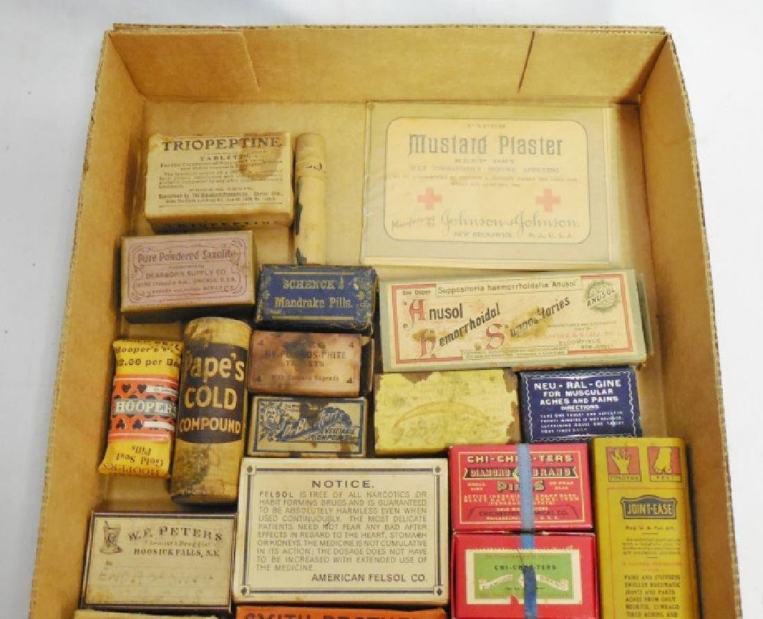 Lot of 26 Assorted Medicinal Cardboard Boxes - 2