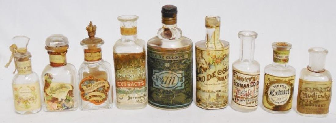 Lot of 9 Perfume/Extract/Cologne Bottles