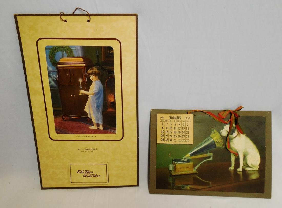 Lot of 2 Victrola Calendars 1911/1920