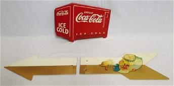 Wooden Coca-Cola Advertisement
