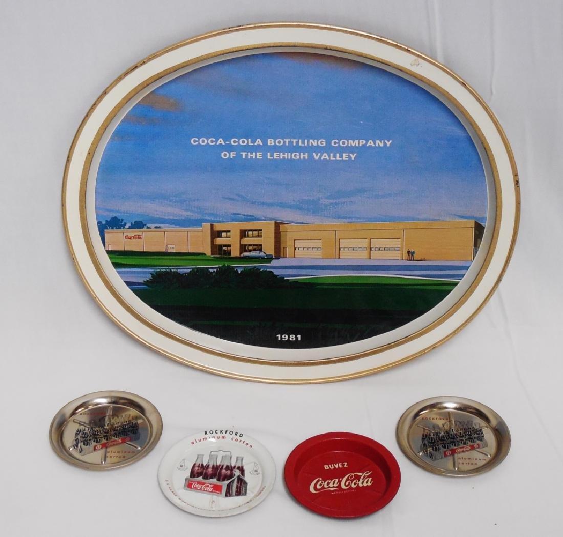 Coca-Cola Serving Tray and 4 Coca-Cola Tip Trays