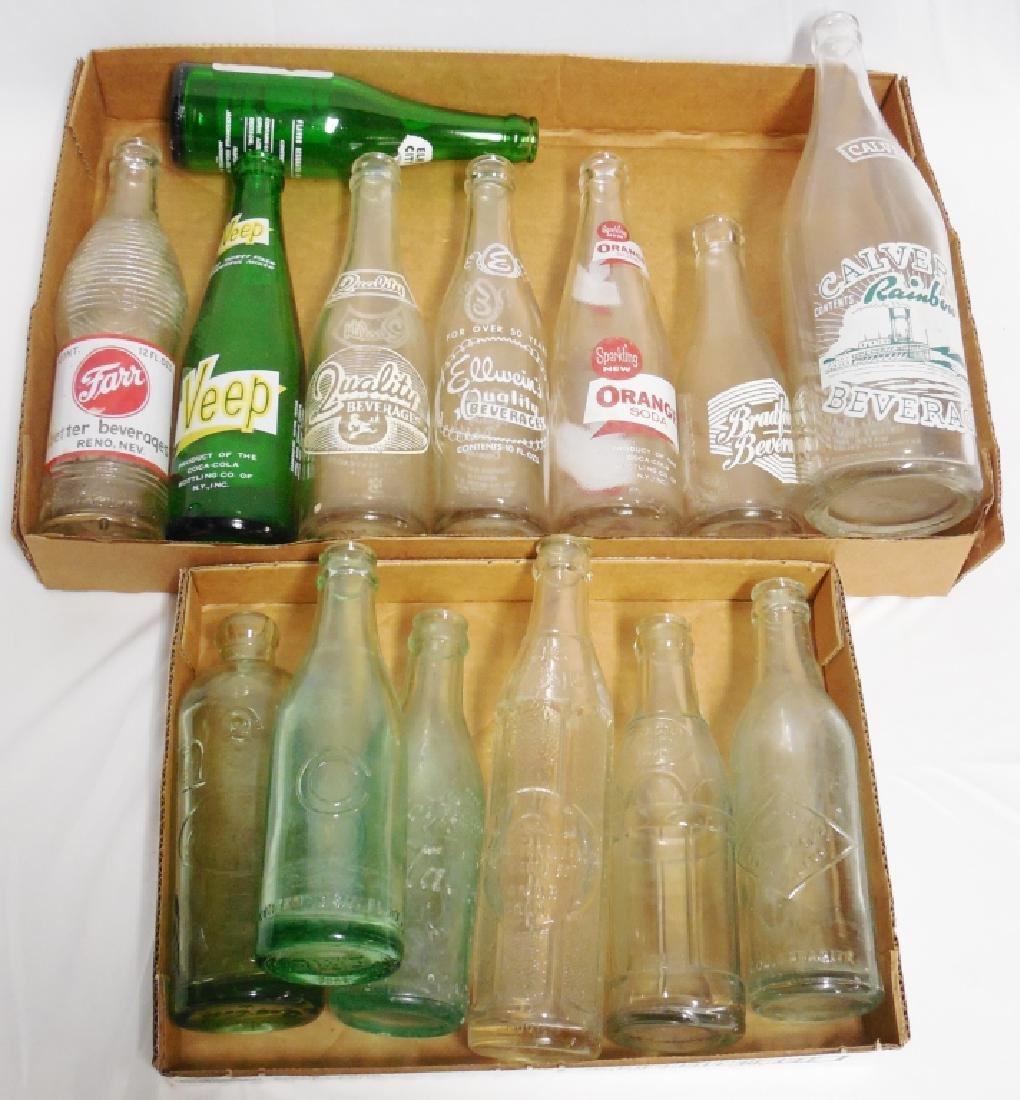 Lot of 14 Bottles - 6 Coca-Cola