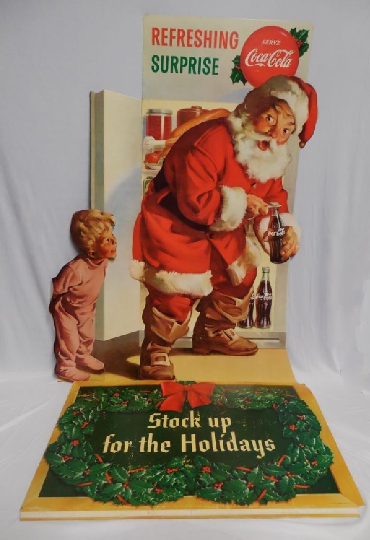 Coca-Cola Santa Advertisement Die-Cut Cardboard