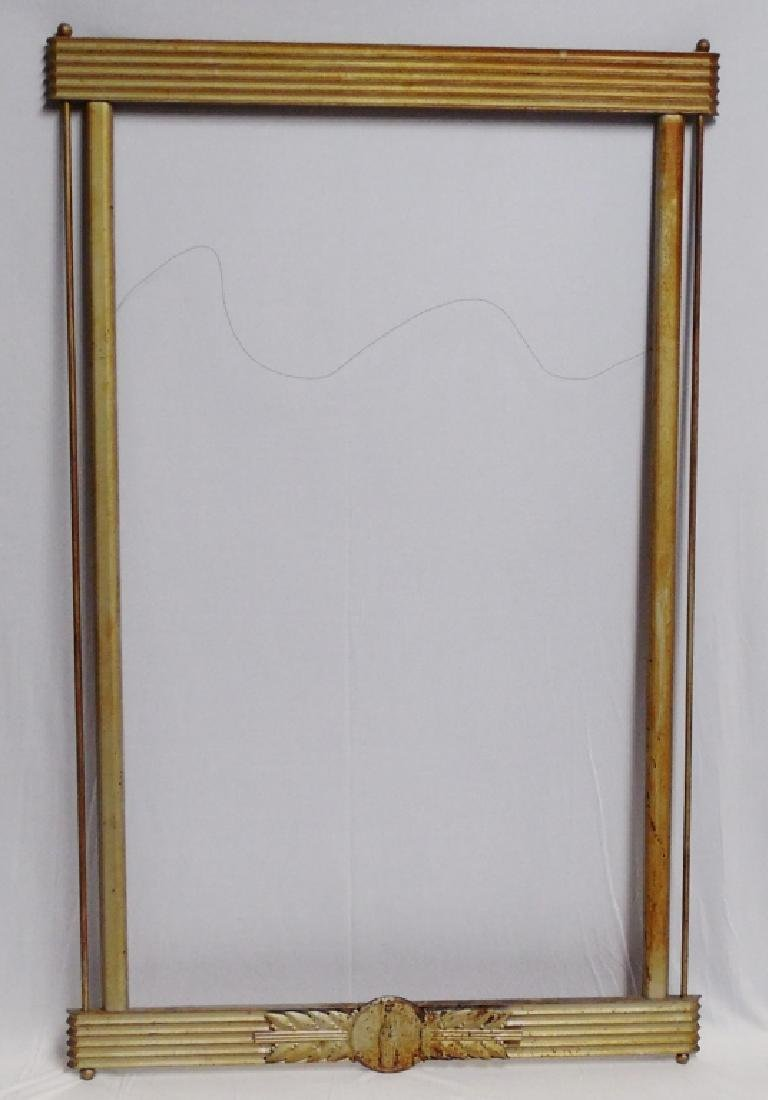 Coca-Cola Wood Frame with Metal Logo Accent