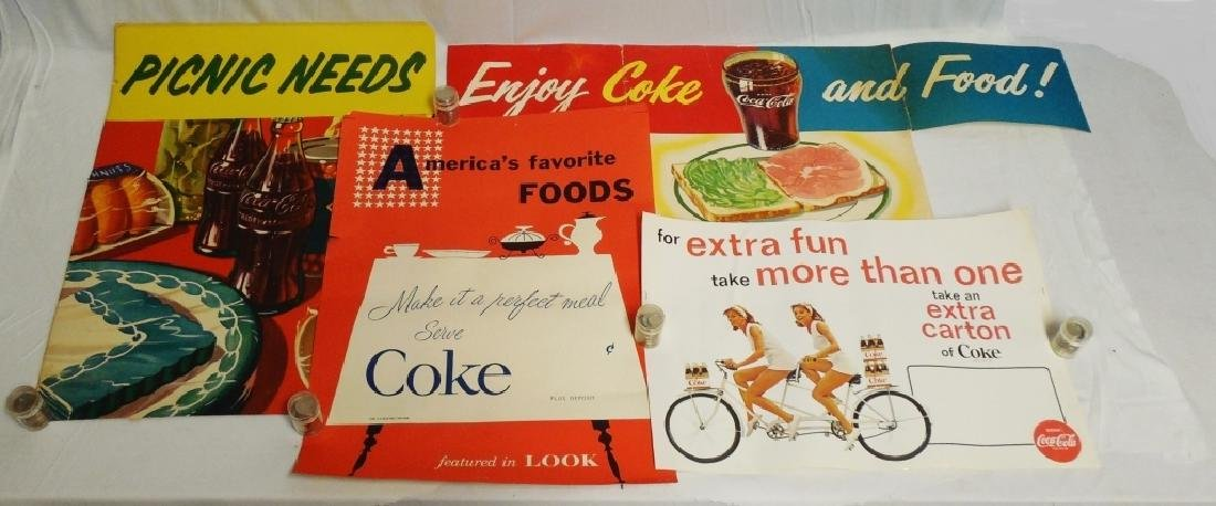 Lot of 4 Coca-Cola Poster Advertisements