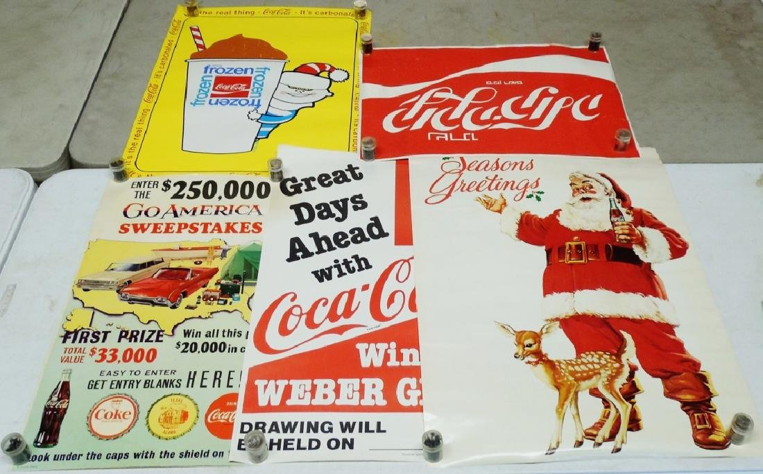 Lot of 5 Coca-Cola Advertising Posters