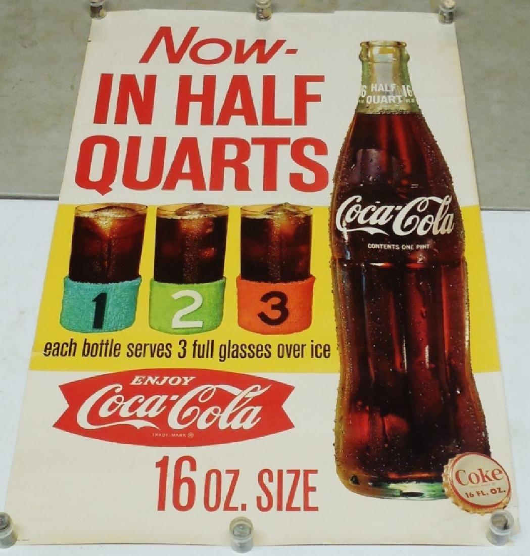 Large Coca-Cola Cardboard Advertising Poster