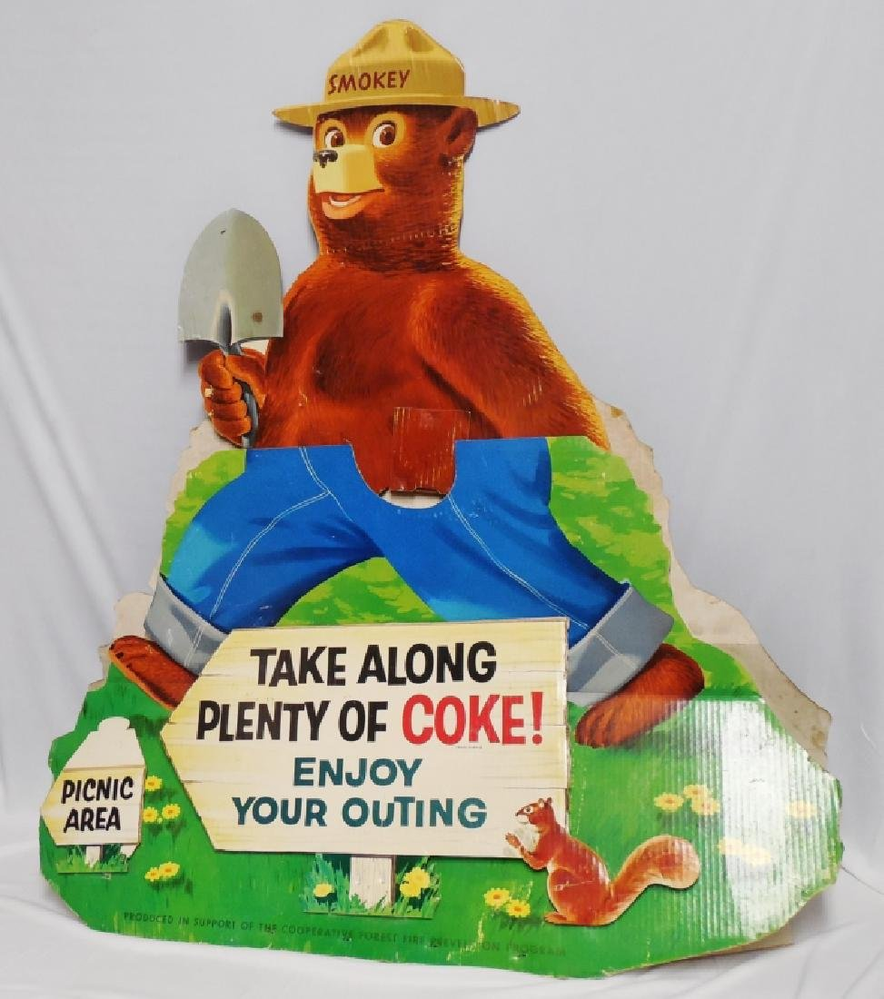 Oversized Die-Cut Smokey the Bear Cardboard Ad