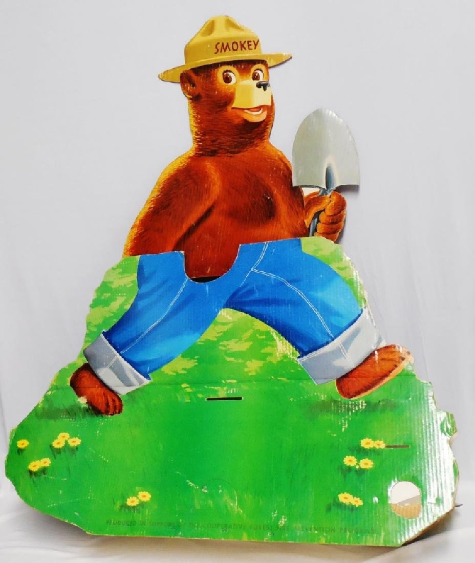 Oversized Die-Cut Smokey the Bear Cardboard Ad - 2