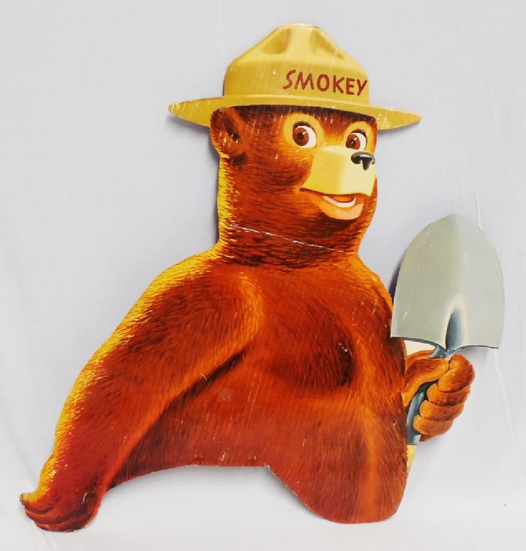 Oversized Die-Cut Smokey the Bear Cardboard Ad - 3