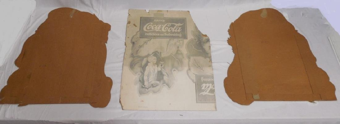 Lot of 3 Cardboard Coca-Cola Advertisement Pieces - 2
