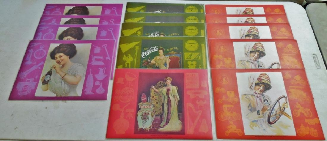 Lot of Coca-Cola Placemats and Calendars