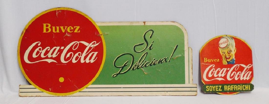 Lot of 2 Foreign Coca-Cola Advertising Pieces
