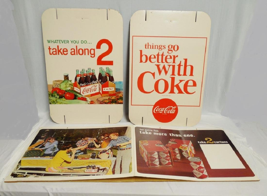 """Take Along 2"" Cartons Coca-Cola Cardboard Display"