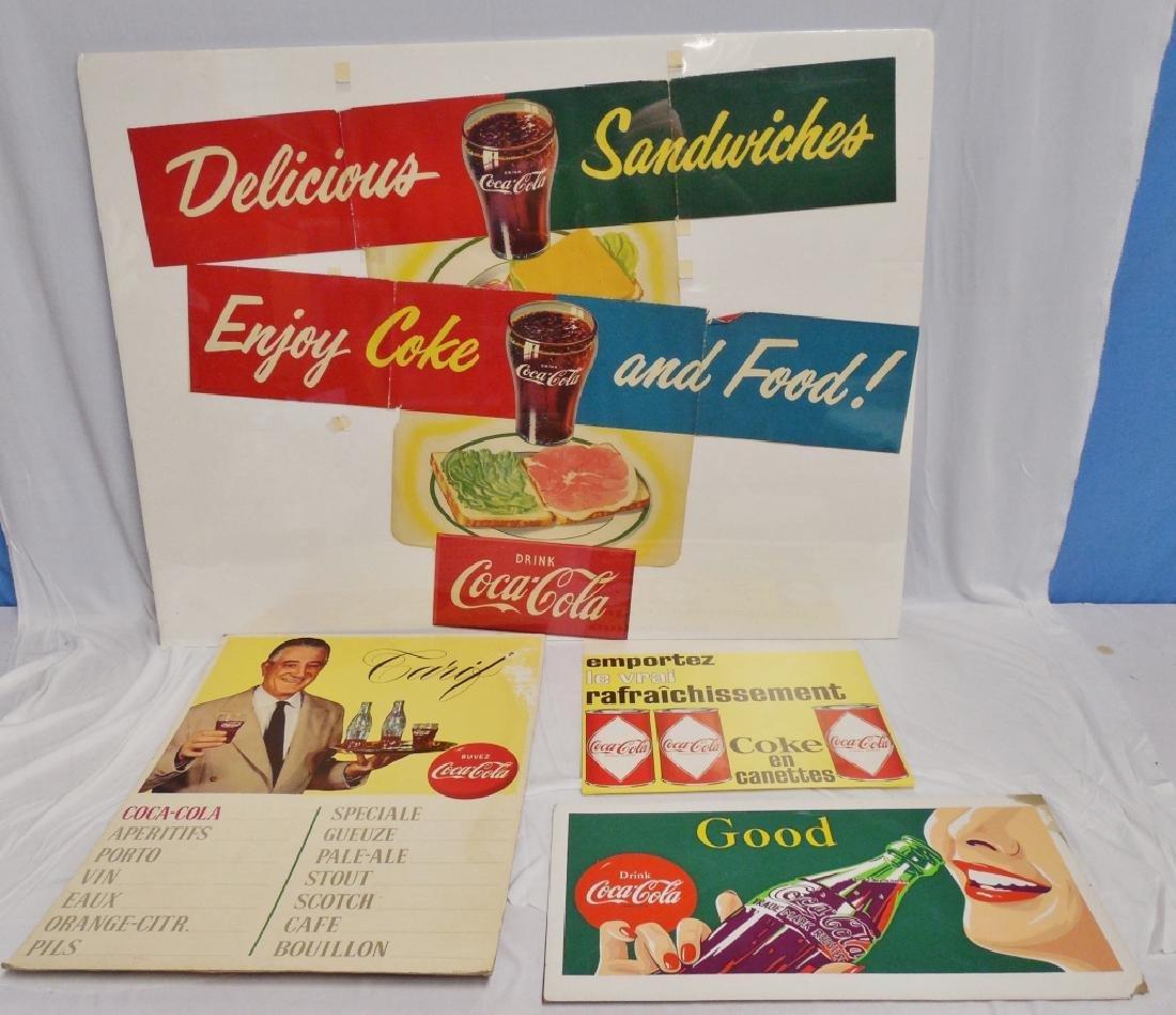 Lot of 5 Coca-Cola Advertisements