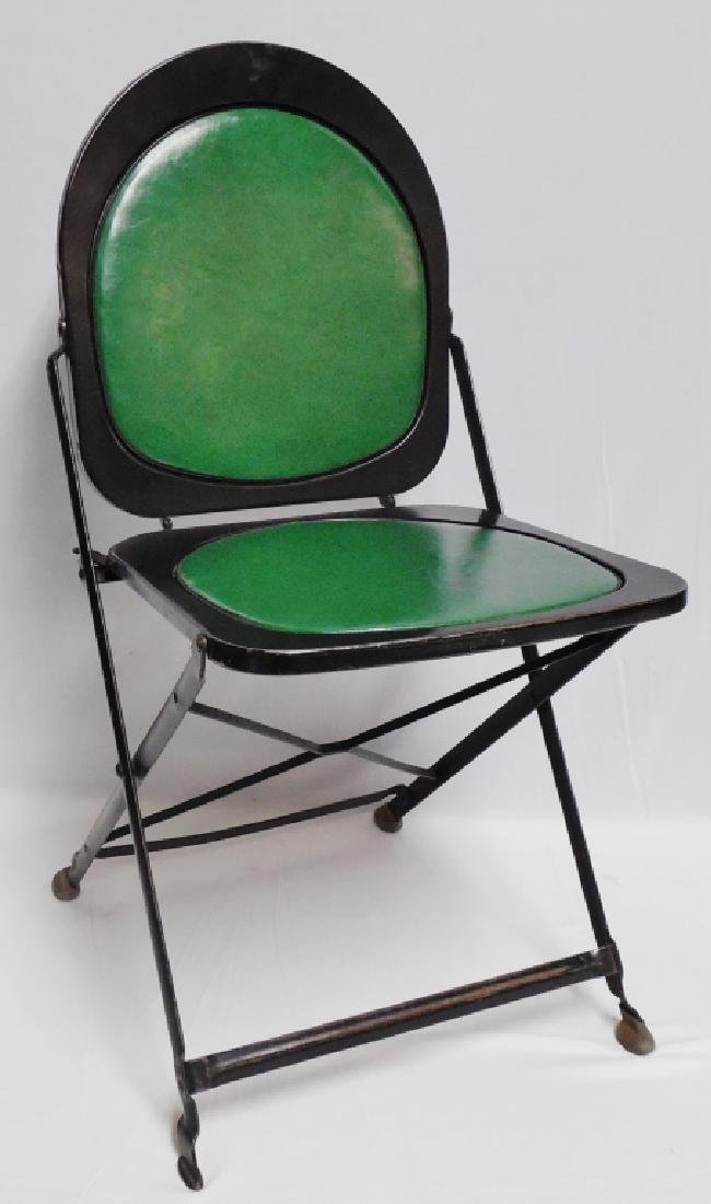 Lot of 4 Metal Folding Coca-Cola Chairs