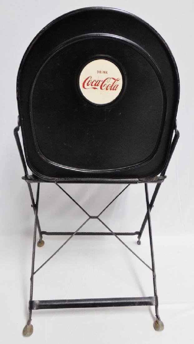 Lot of 4 Metal Folding Coca-Cola Chairs - 2