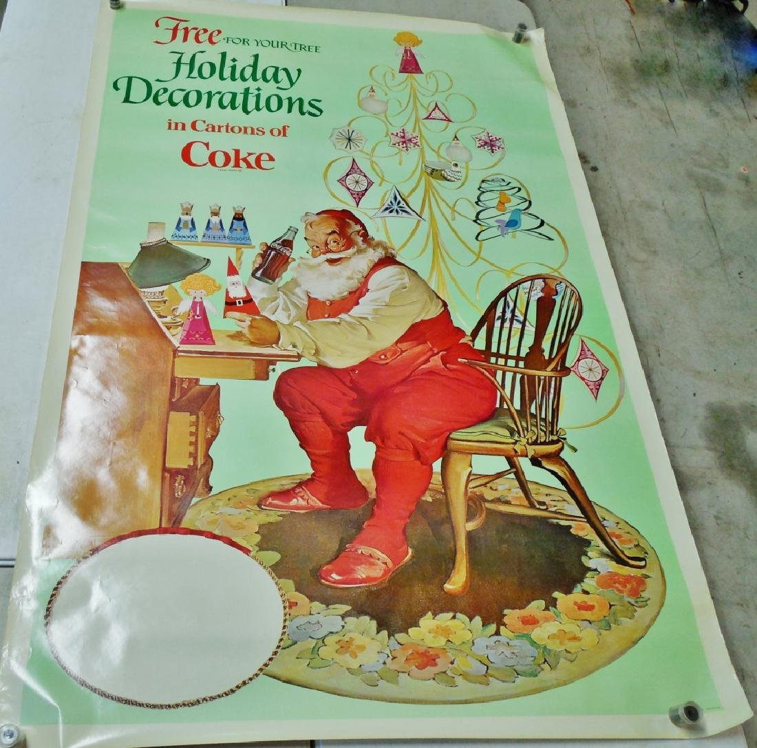 Lot of 7 Large Christmas Coca-Cola Posters