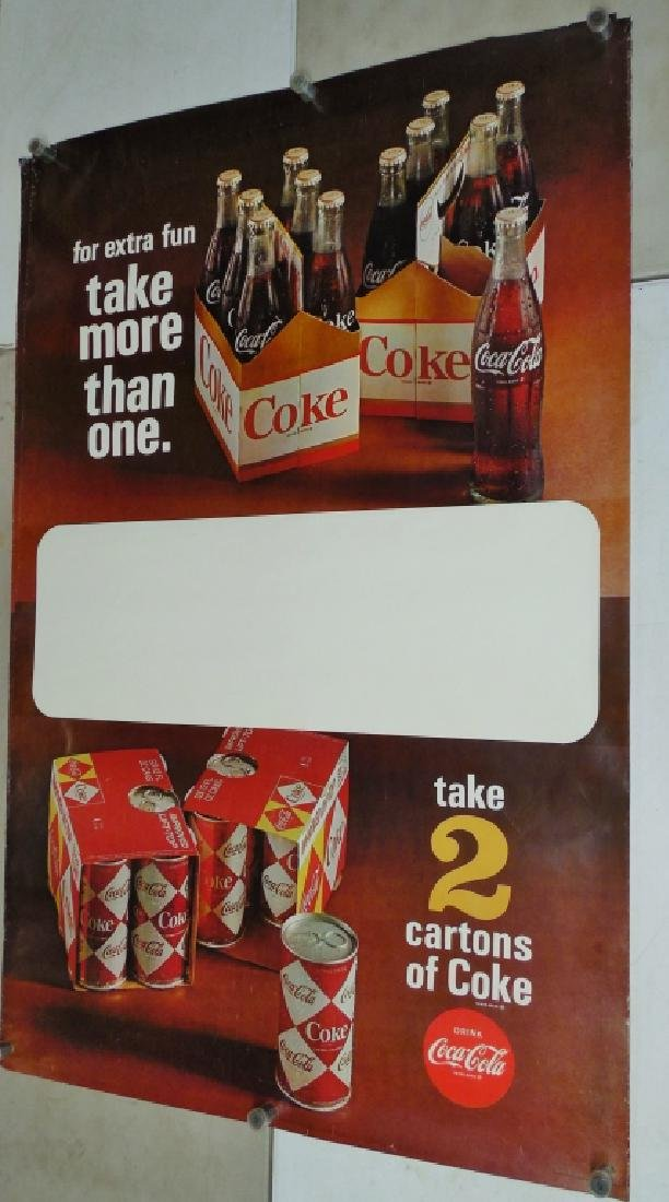 Lot of 2 Large Coca-Cola Posters (Duplicates)