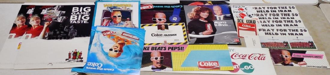 Lot of Assorted Coca-Cola Posters Mostly Newer