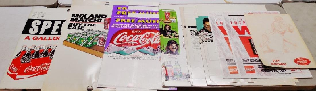Lot of Assorted Coca-Cola Posters - Sports Related
