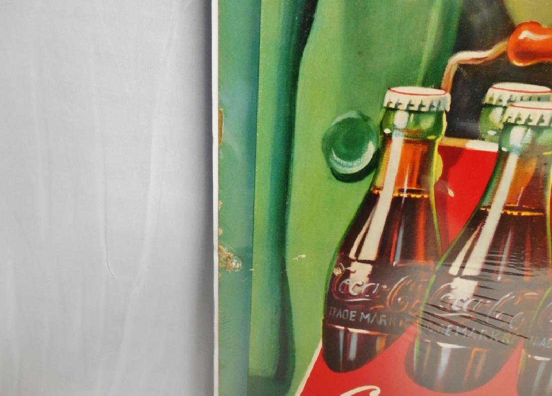 """...and Coke"" Cardboard Advertisement - 5"