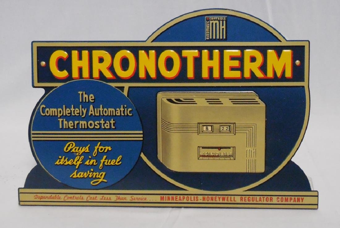 Chronotherm Diecut Embossed Tin Sign