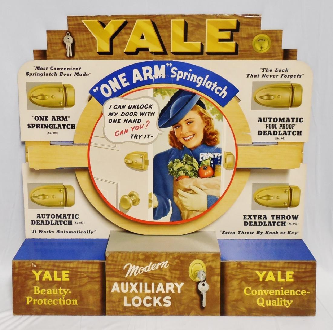 Cardboard Die Cut Yale Locks Advertisement