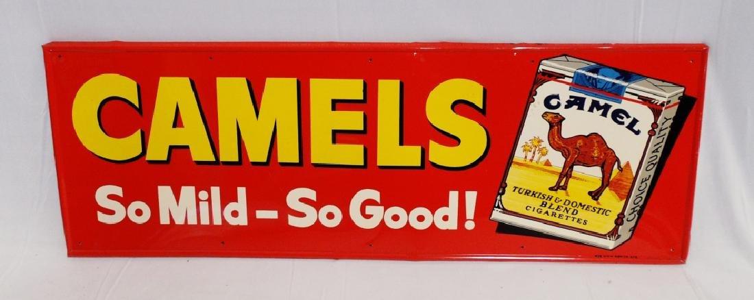 Tin Camels Cigarettes Sign