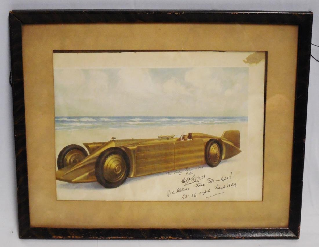 Framed Automotive Picture