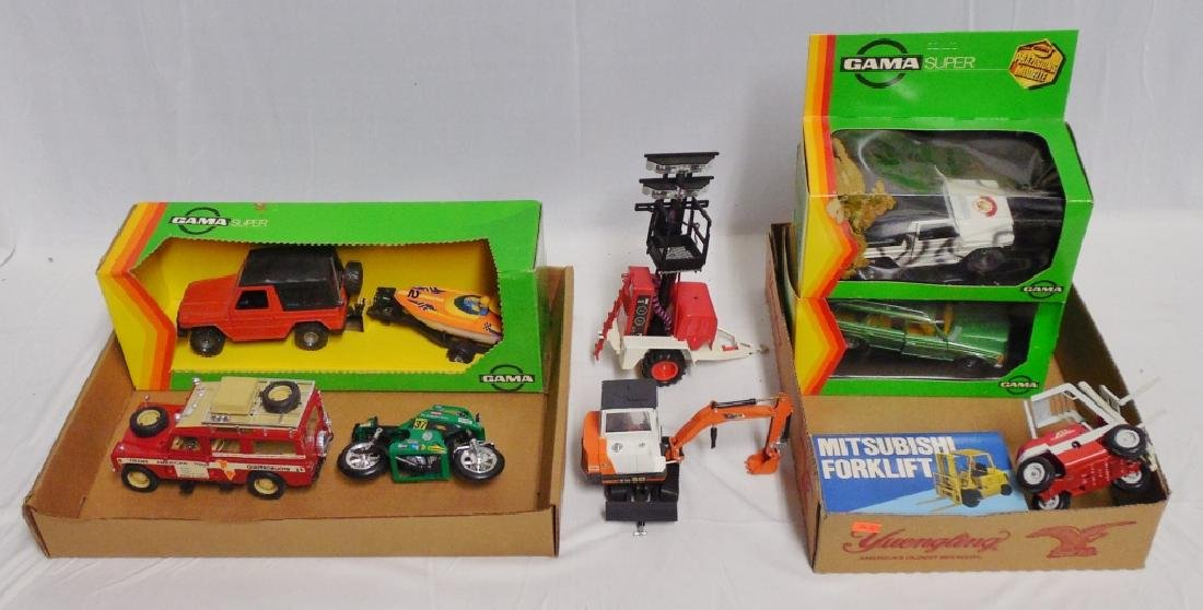 Lot of 9 Toy Trucks and Cars