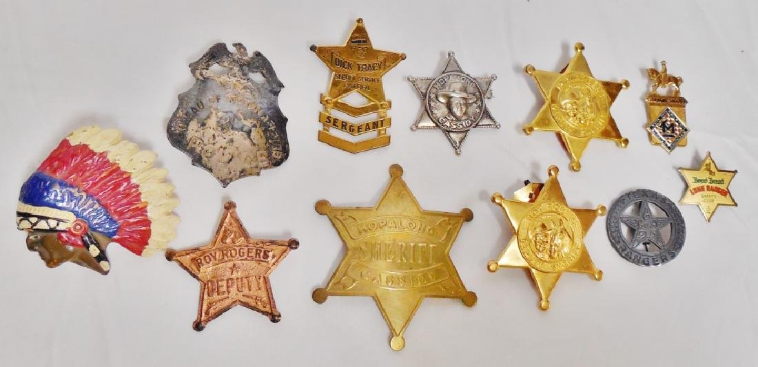 Lot of 10 Sheriff/Police Badges