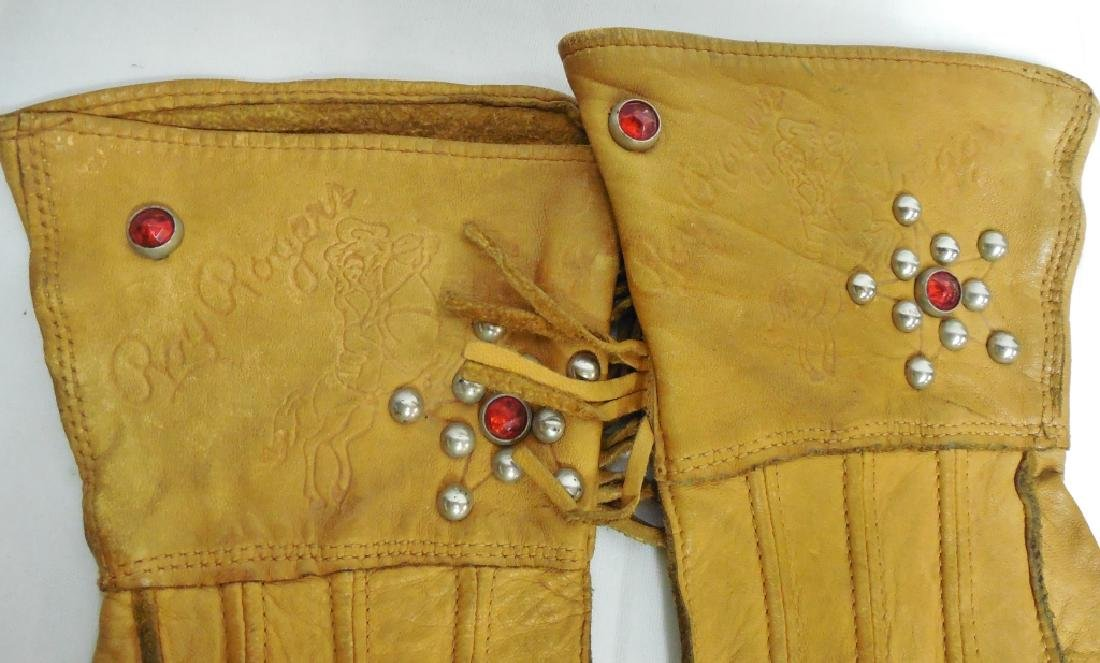 Childs Chaps and Riding Gloves - 2