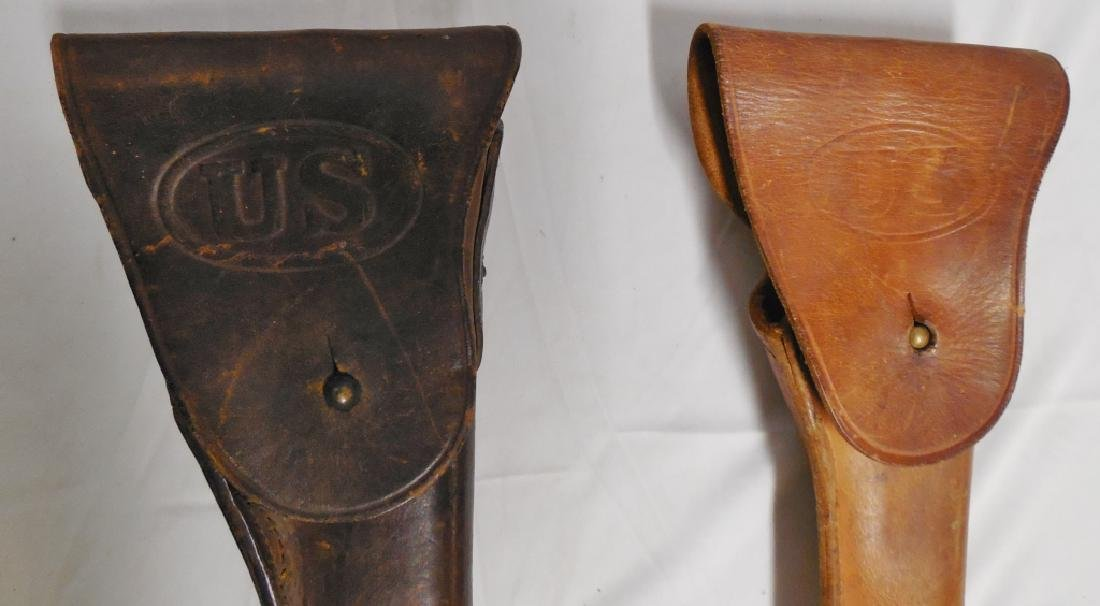 Lot of 2 US Military Leather Gun Holsters - 2
