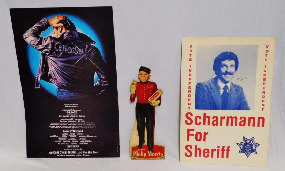 Lot of 3 Assorted Cardboard Advertisements