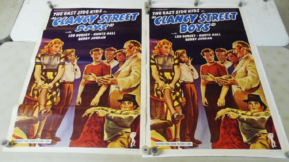 Lot of 2 Reproduction Clancy Street Boys Posters