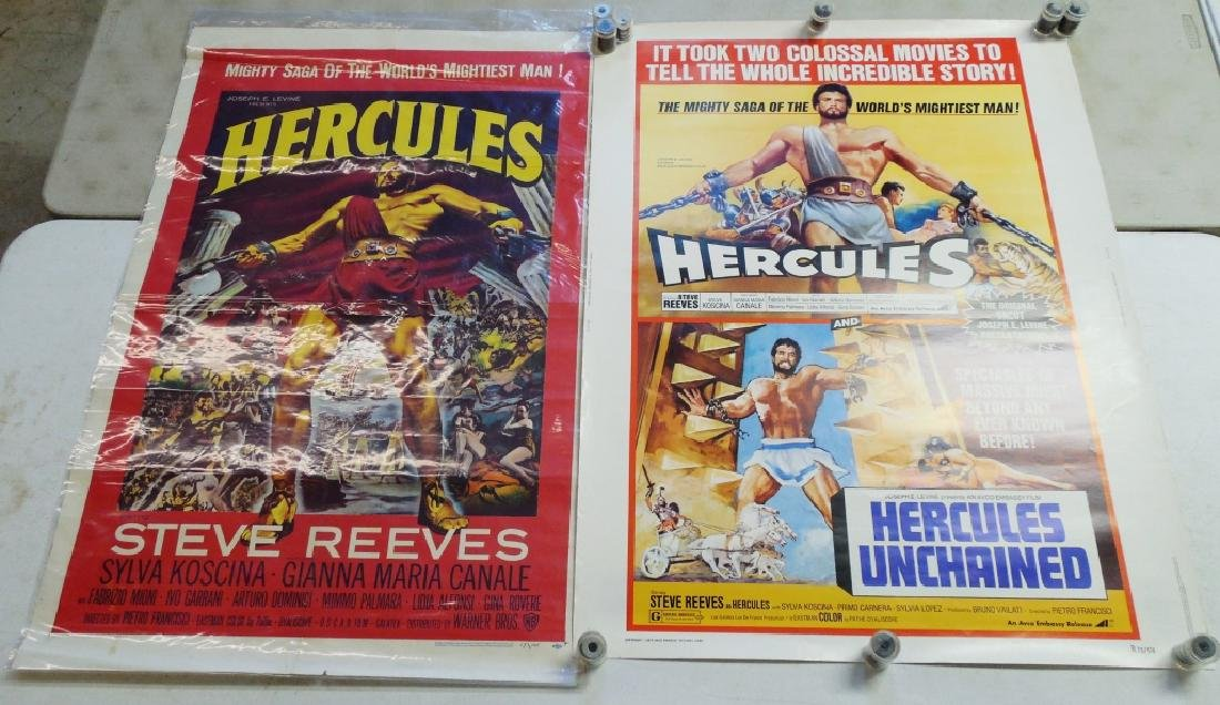 Lot of 2 Hercules Movie Posters