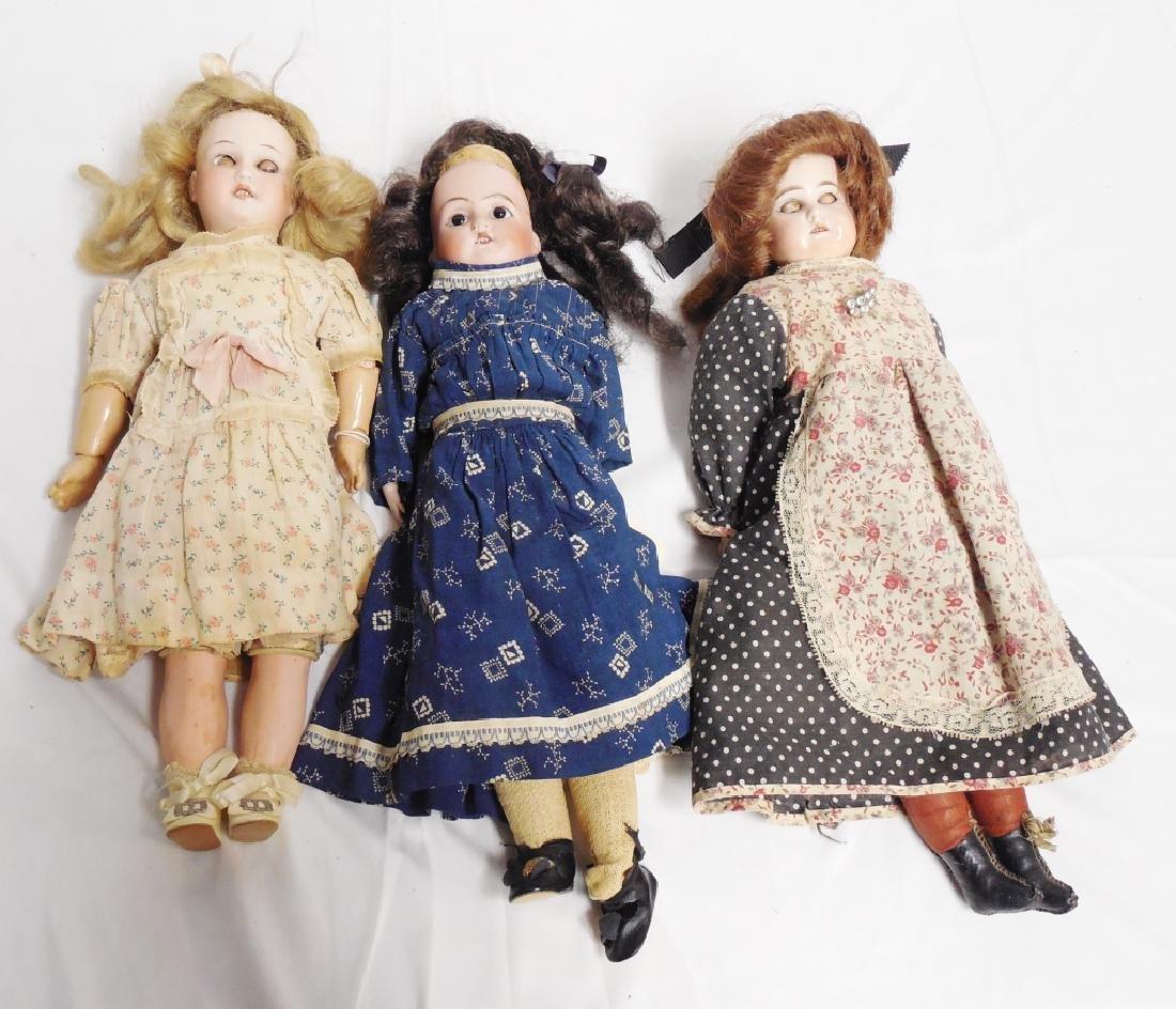 Lot of 3 German Dolls