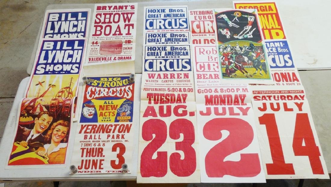 Lot of 12 Circus Posters