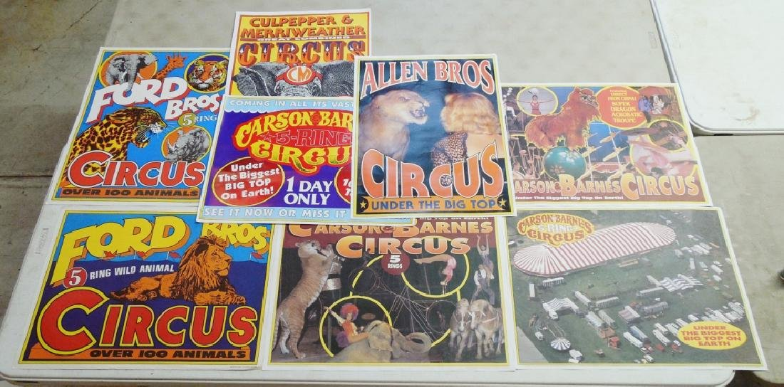 Lot of 8 Circus Posters